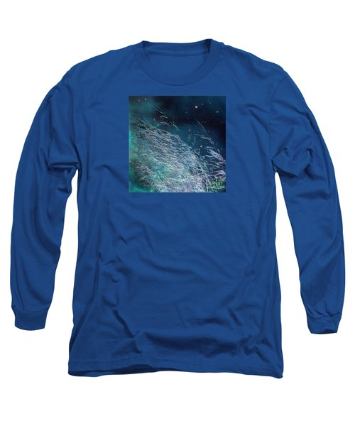 Long Sleeve T-Shirt featuring the photograph Starry Sky Grass by Yulia Kazansky