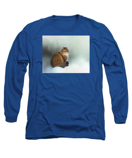 Starting To Snow Again Long Sleeve T-Shirt by Theresa Tahara