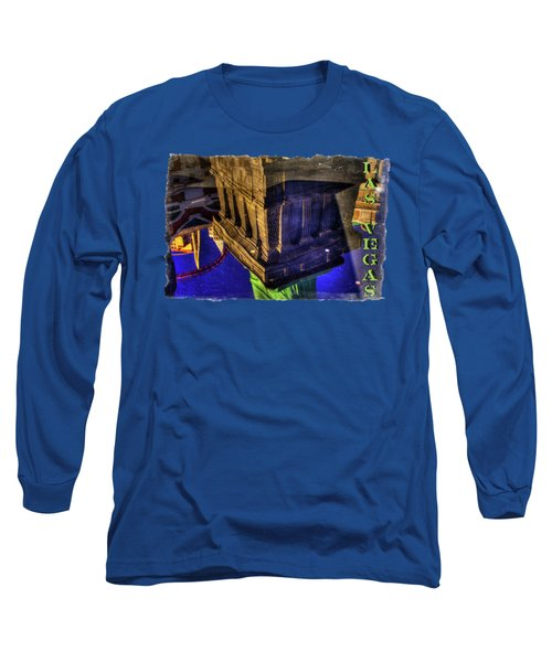 Statue Of Liberty Las Vegas Reflections Long Sleeve T-Shirt by Roger Passman