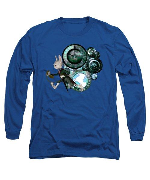 Steampunk White Rabbit Long Sleeve T-Shirt