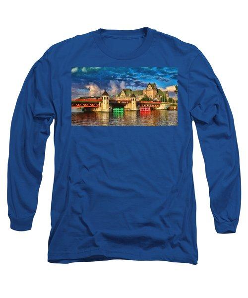 Stettin Bridge - Pol890431 Long Sleeve T-Shirt