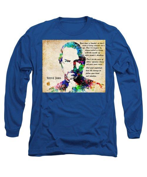 Steve Jobs Portrait Long Sleeve T-Shirt