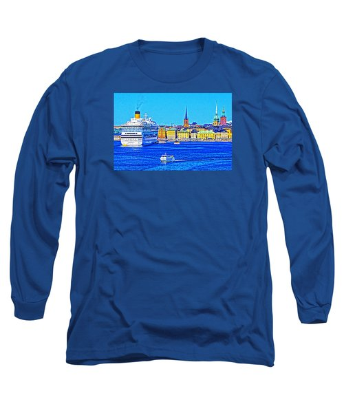 Long Sleeve T-Shirt featuring the photograph Stockholm Cruise by Dennis Cox WorldViews