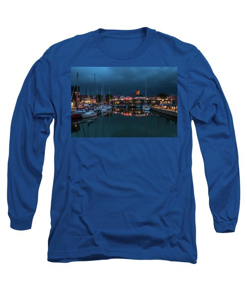 Stralsund At The Habor Long Sleeve T-Shirt by Martina Thompson