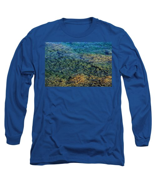 Submerged Rocks At Lake Superior Long Sleeve T-Shirt