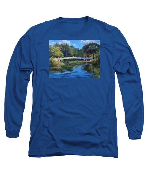 Summer Afternoon On The Lake, Central Park Long Sleeve T-Shirt
