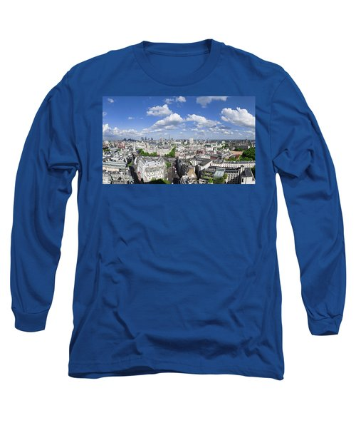 Summer Skies Over London Long Sleeve T-Shirt