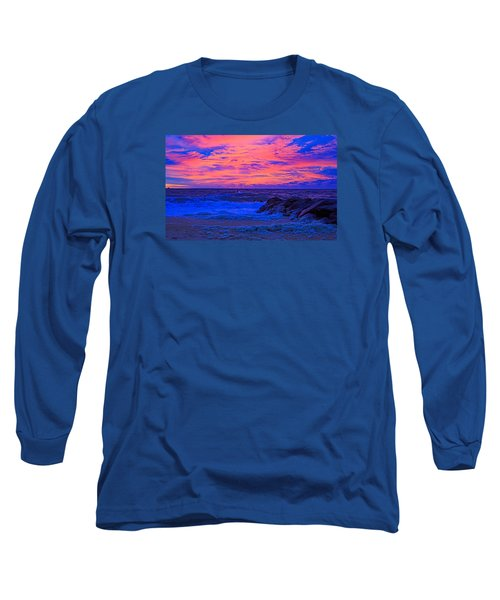 Sun Rays Painted Sky Long Sleeve T-Shirt by Allan Levin