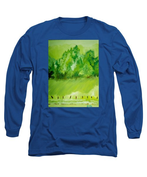 Long Sleeve T-Shirt featuring the painting Sunday At Two Thirty by Seth Weaver