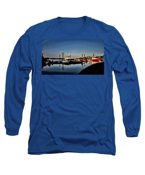 Sunny Morning At Onset Pier Long Sleeve T-Shirt