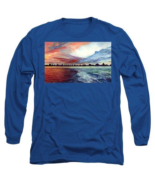 Sunrise Over Indian Lake Long Sleeve T-Shirt