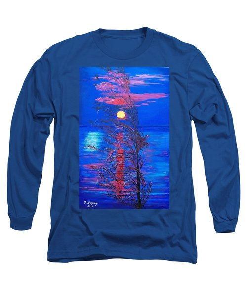 Long Sleeve T-Shirt featuring the painting Sunrise Silhouette by Sharon Duguay