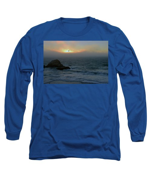Sunset With The Bird Long Sleeve T-Shirt