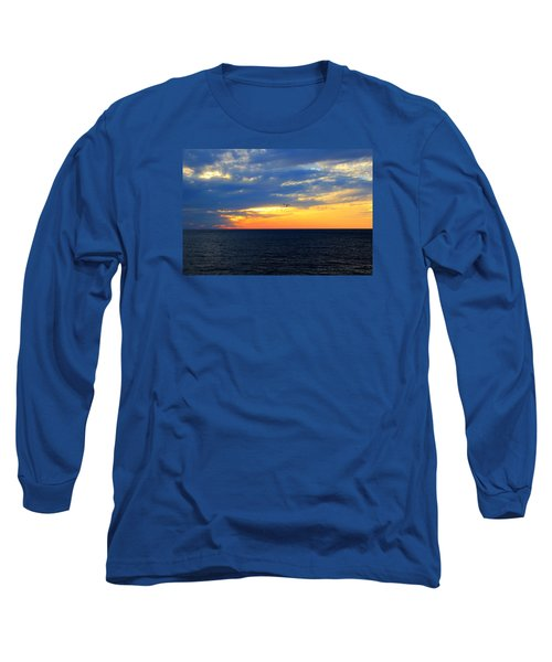 Long Sleeve T-Shirt featuring the photograph Sunset At Sail Away by Shelley Neff