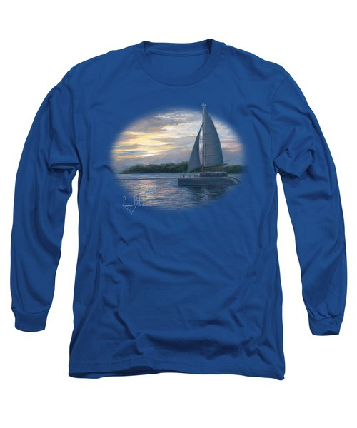 Sunset In Key West Long Sleeve T-Shirt by Lucie Bilodeau