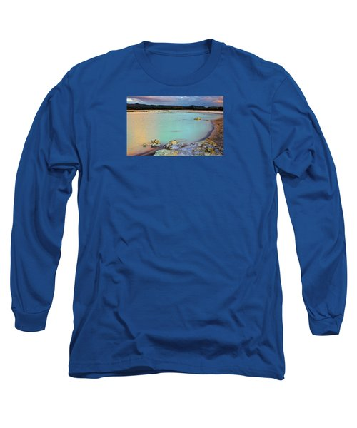 Sunset In Rotorua New Zealand Long Sleeve T-Shirt