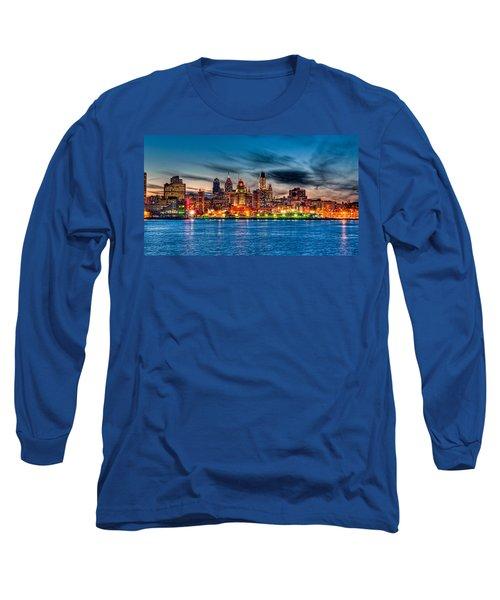 Sunset Over Philadelphia Long Sleeve T-Shirt