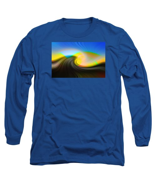 Sunset Over The Lake Long Sleeve T-Shirt by Lewis Mann