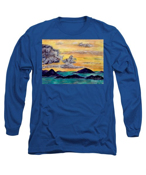 Sunset Over The Virgin Islands Long Sleeve T-Shirt