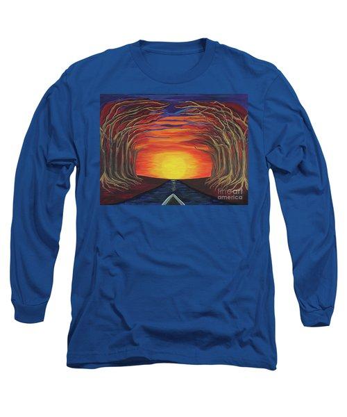 Treetop Sunset River Sail Long Sleeve T-Shirt