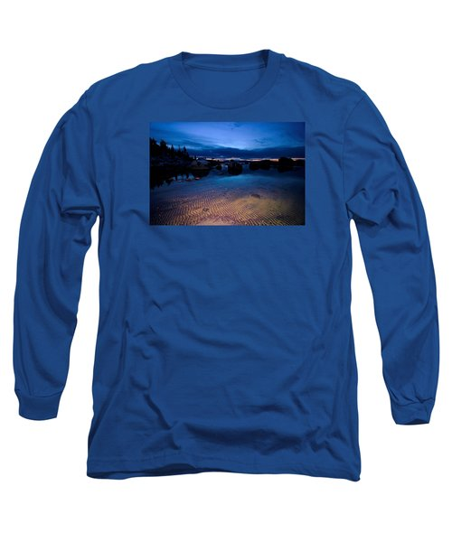 Sunset Sand Ripples Long Sleeve T-Shirt by Sean Sarsfield