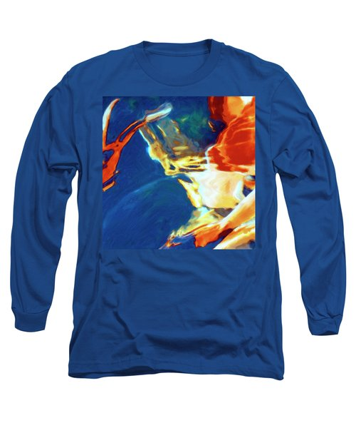 Long Sleeve T-Shirt featuring the painting Sunspot by Dominic Piperata