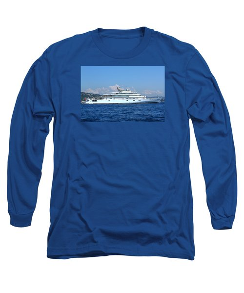 Long Sleeve T-Shirt featuring the photograph Super Yacht by Richard Patmore
