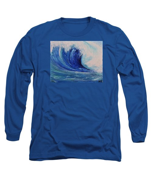 Long Sleeve T-Shirt featuring the painting Surf by Teresa Wegrzyn