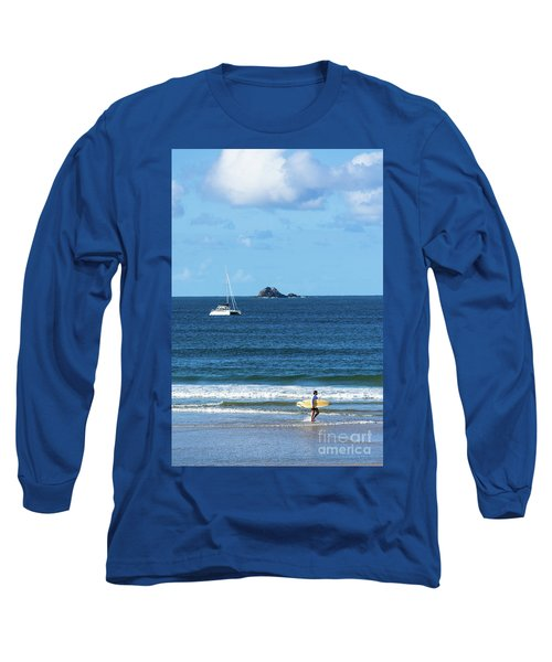 Surfer On Main Beach Long Sleeve T-Shirt