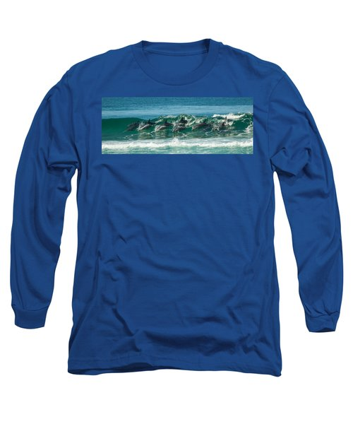 Surfing Dolphins 4 Long Sleeve T-Shirt