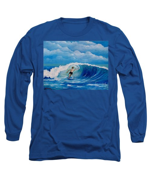 Surfing On The Waves Long Sleeve T-Shirt