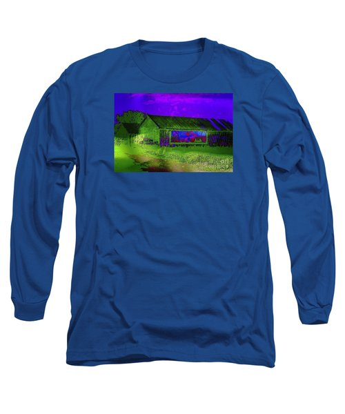 Surreal Barn Graffiti Long Sleeve T-Shirt by Dee Flouton