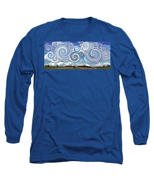 Surreal Cloud Blue Long Sleeve T-Shirt
