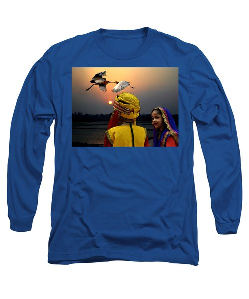 Long Sleeve T-Shirt featuring the digital art Sweethearts by Bliss Of Art