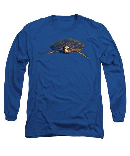 Swimming Turtle Long Sleeve T-Shirt