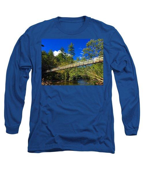 Toccoa River Swinging Bridge Long Sleeve T-Shirt