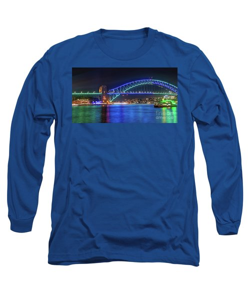 Sydney Harbour Green And Blue By Kaye Menner Long Sleeve T-Shirt