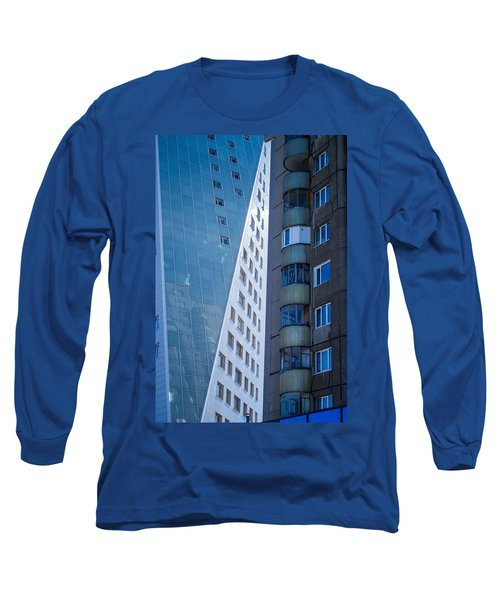 Long Sleeve T-Shirt featuring the photograph Synergy Between Old And New Apartments by John Williams