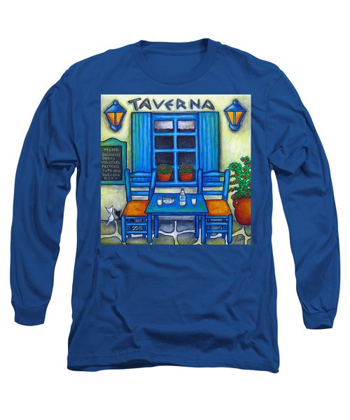 Table For Two In Greece Long Sleeve T-Shirt