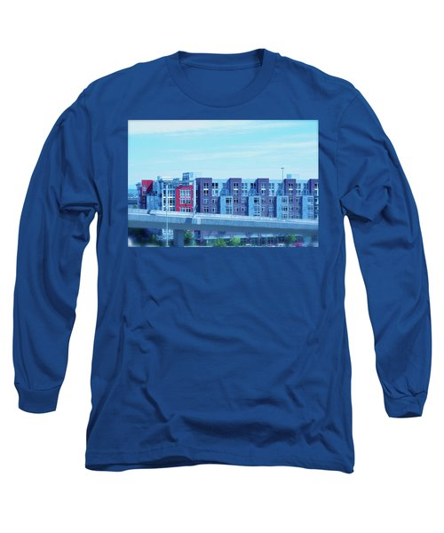 Long Sleeve T-Shirt featuring the photograph Tacoma Blues - Cityscape Art Print by Jane Eleanor Nicholas