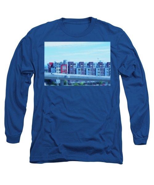 Tacoma Blues - Cityscape Art Print Long Sleeve T-Shirt