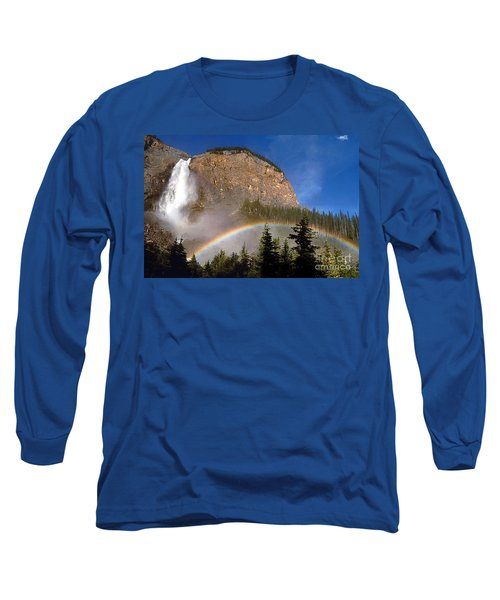 Takakkaw Falls B C Canada   Long Sleeve T-Shirt by Rod Jellison