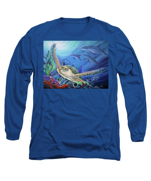 Long Sleeve T-Shirt featuring the painting Taking Flight by William Love