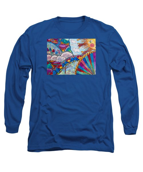 Tapestry Of Joy Long Sleeve T-Shirt by Megan Walsh