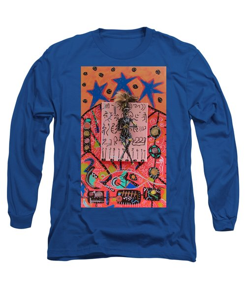 Long Sleeve T-Shirt featuring the painting Teasel Herbal Tincture by Clarity Artists