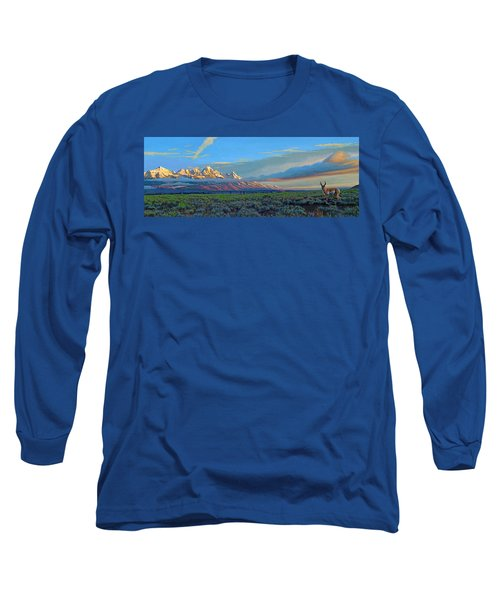 Teton Morning Long Sleeve T-Shirt by Paul Krapf