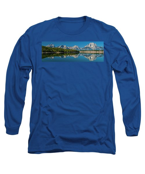 Long Sleeve T-Shirt featuring the photograph Teton Reflections by Gary Lengyel