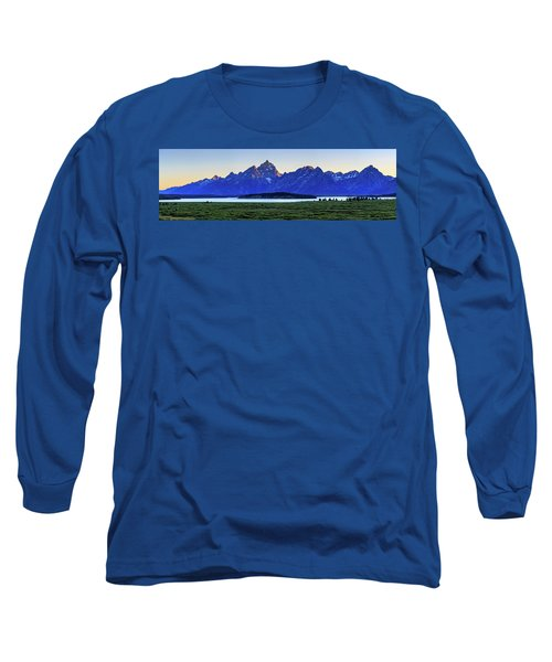 Teton Sunset Long Sleeve T-Shirt by David Chandler