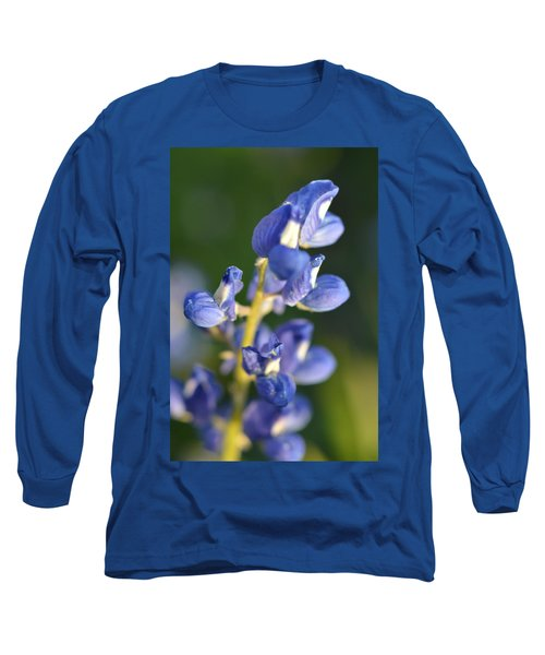 Texas Blue Bonnet Details 1 Long Sleeve T-Shirt