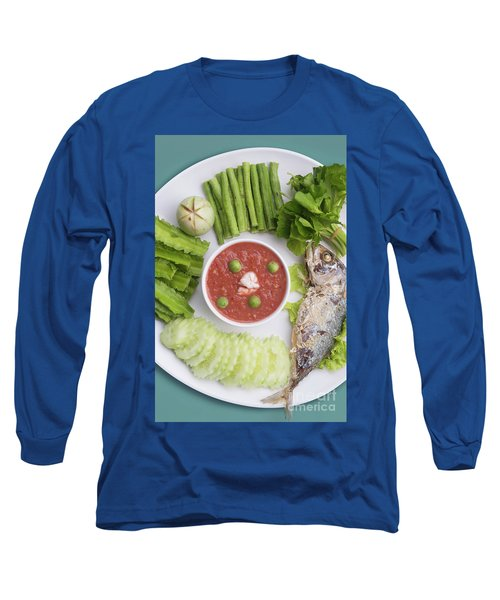 Long Sleeve T-Shirt featuring the photograph Thai Chili Paste by Atiketta Sangasaeng